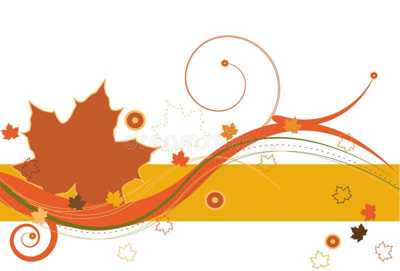 De Wind van de herfst stock illustratie