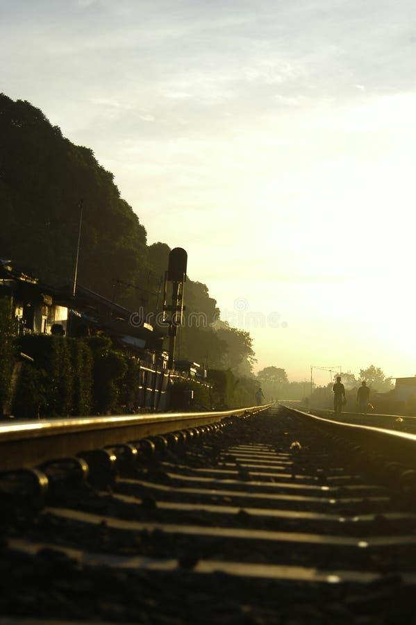 De Wind van de spoorweg stock afbeelding