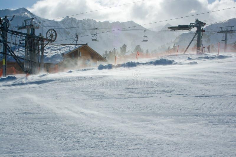De Wind van de winter stock fotografie