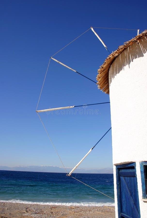De windmolen van Cycladic stock foto