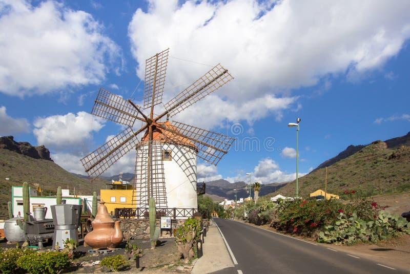 De windmolen van Gran Canaria stock afbeelding