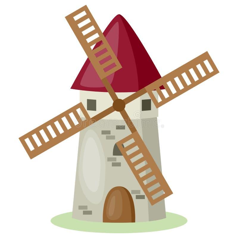 De Windmolen van het beeldverhaal vector illustratie