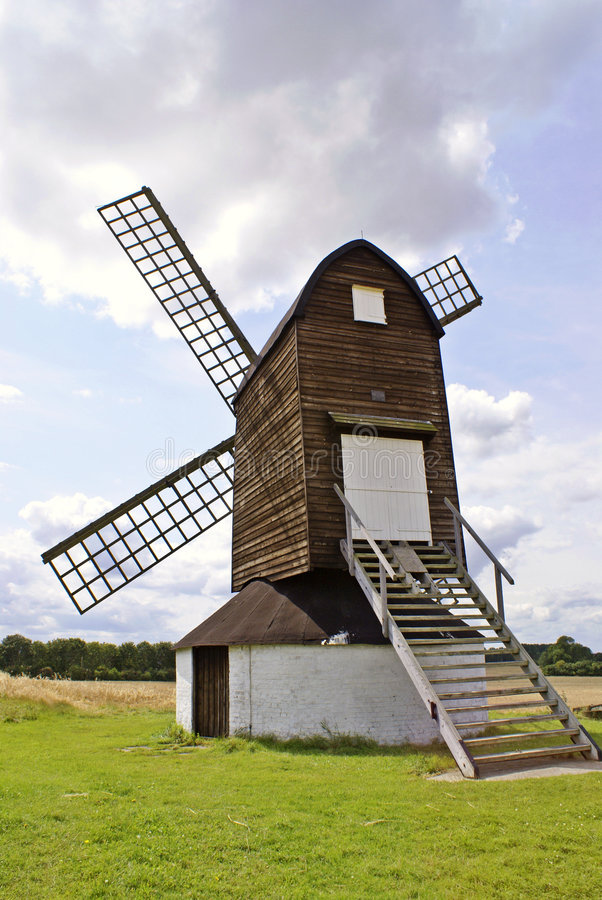 De Windmolen van Pitstone stock afbeelding