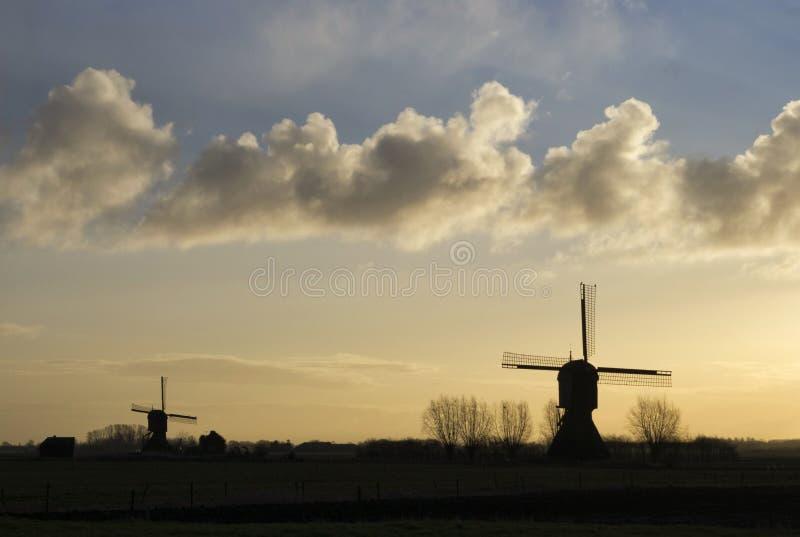 De windmolen Zandwijkse windmolen stock foto