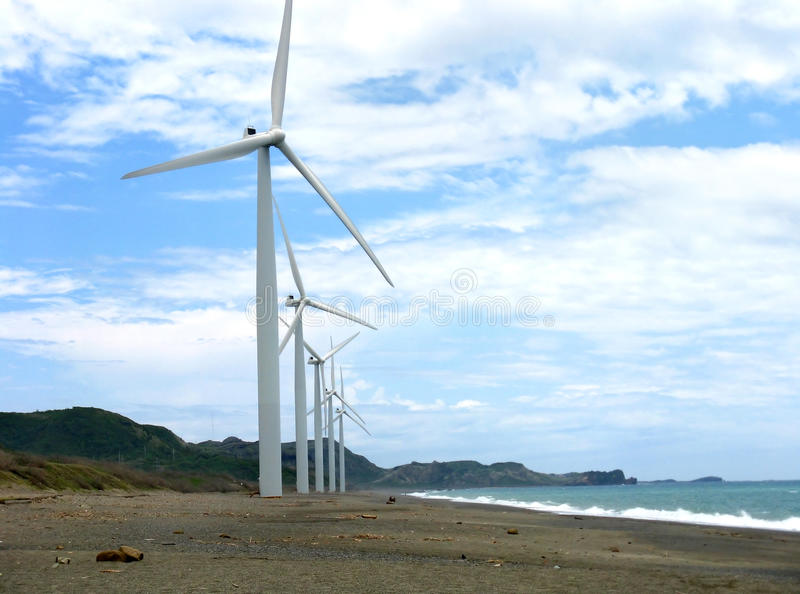De Windmolens van Ilocos stock foto's