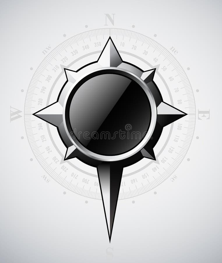De windroos van het staal met schaal royalty-vrije illustratie