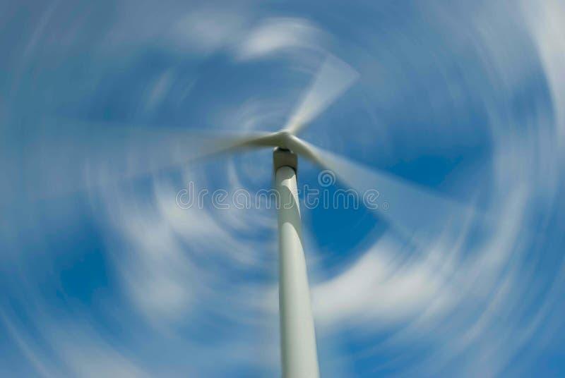 De windturbine van Spiining stock afbeelding