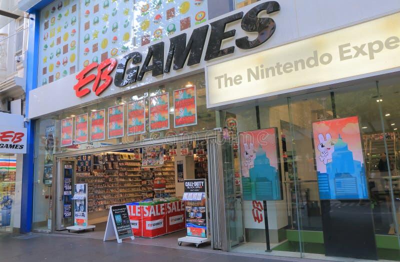 De winkel Australa van het computerspel stock foto's