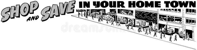 De winkel en bespaart op Uw Huis vector illustratie