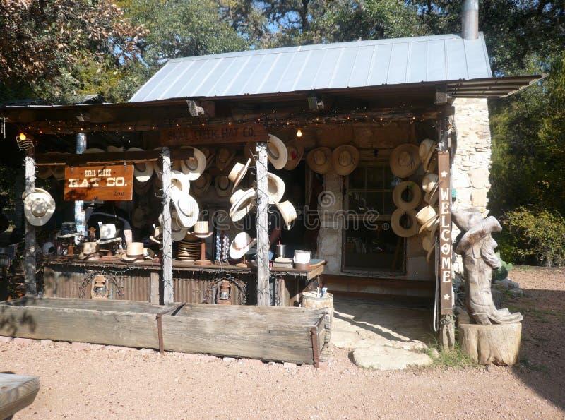 De winkel van cowboyshoeden in Texas royalty-vrije stock afbeeldingen