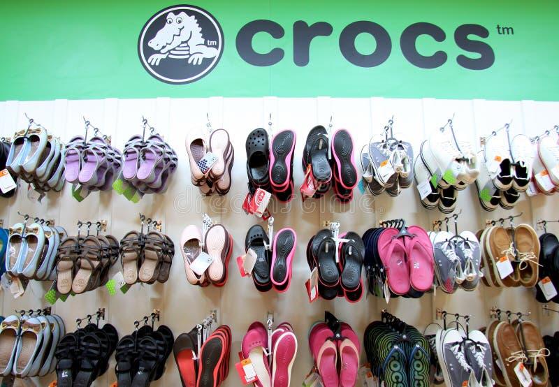De winkel van Crocs royalty-vrije stock fotografie