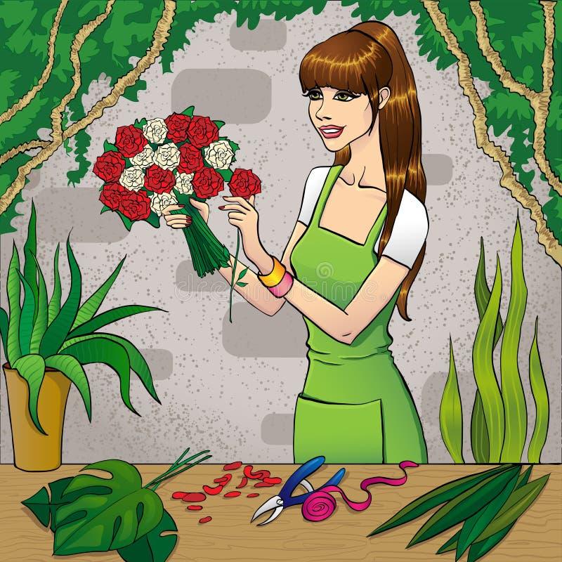 Download De Winkel van de bloem vector illustratie. Illustratie bestaande uit opslag - 29514568