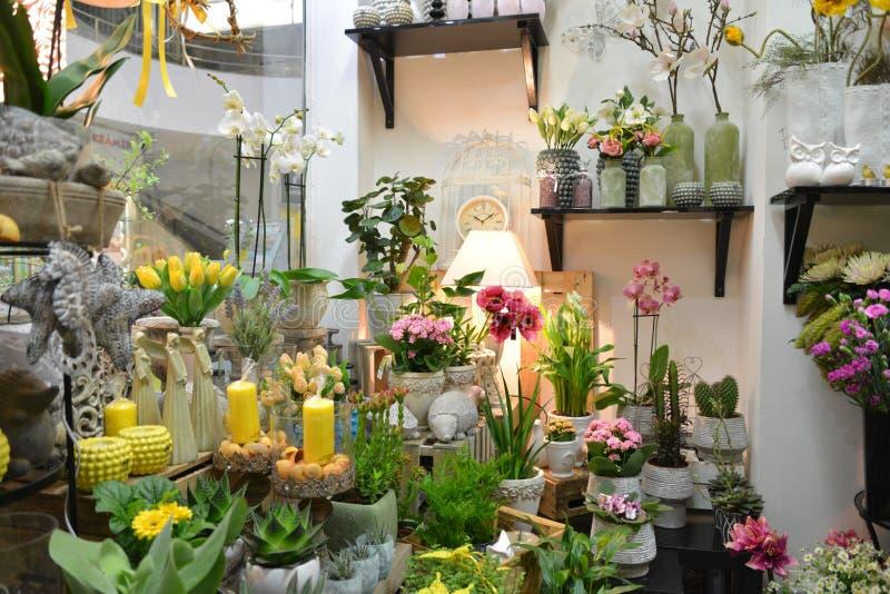 De winkel van de bloem stock fotografie