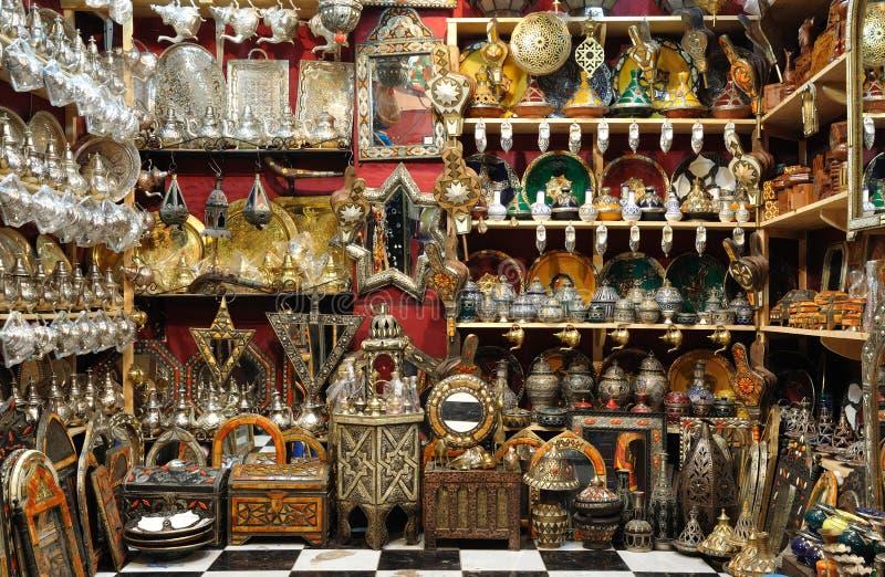 De winkel van de herinnering in Marrakech royalty-vrije stock afbeelding
