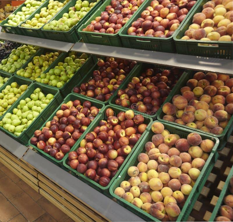 De winkel van de het voedselmarkt van vruchten royalty-vrije stock afbeeldingen