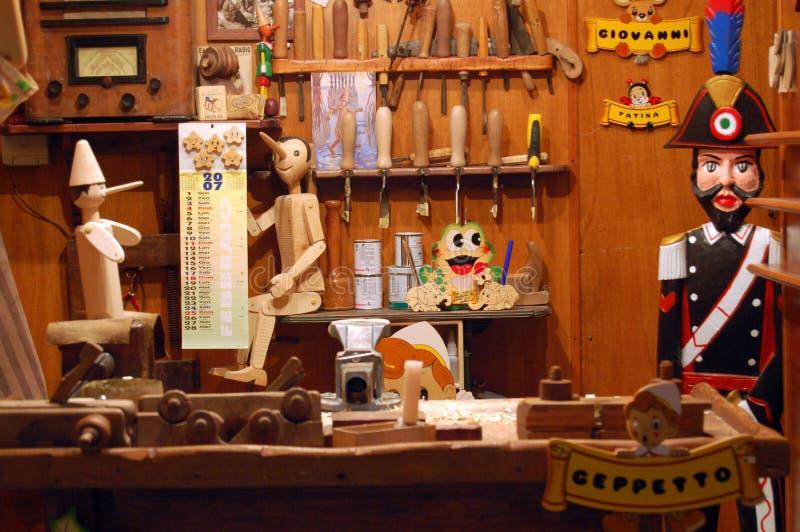 De winkel van de Makers van het Stuk speelgoed stock afbeeldingen