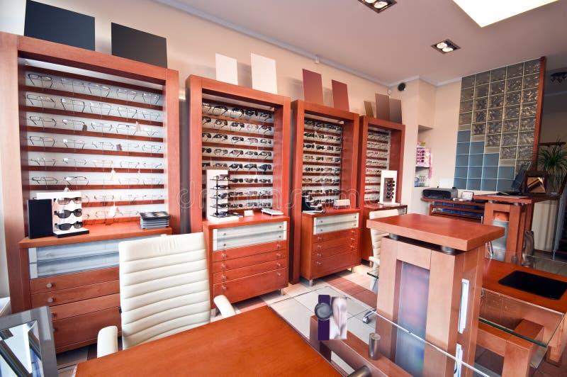 De winkel van de opticien royalty-vrije stock foto