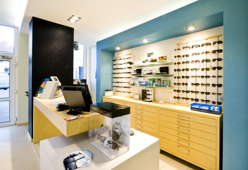 De winkel van de opticien