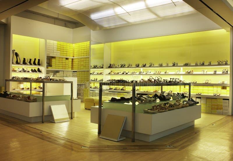 De winkel van de schoen stock afbeeldingen