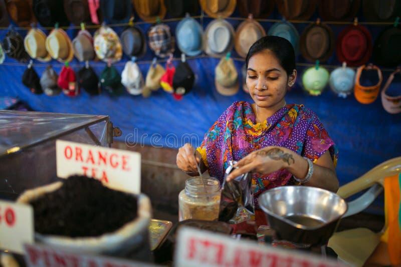 De winkel van de thee in India royalty-vrije stock afbeelding