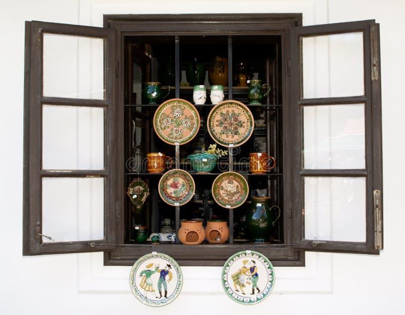 De winkel van het aardewerk stock foto's