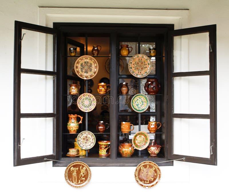 De winkel van het aardewerk royalty-vrije stock afbeelding