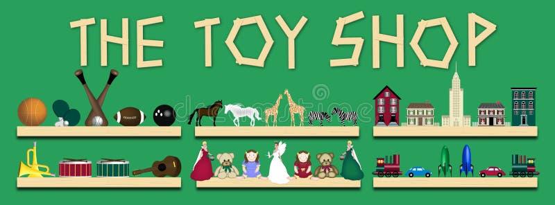 De winkel van het Stuk speelgoed royalty-vrije illustratie