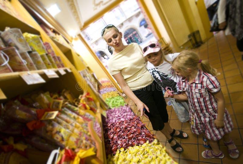 De winkel van het suikergoed royalty-vrije stock fotografie