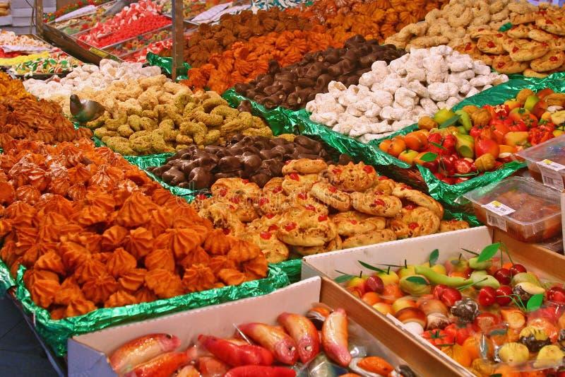 De winkel van het suikergoed stock afbeelding