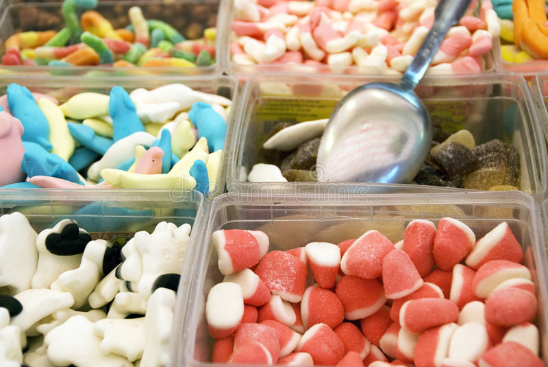 De winkel van het suikergoed royalty-vrije stock afbeeldingen
