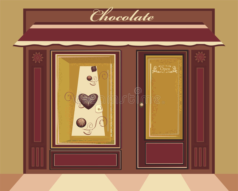 De winkel van het suikergoed vector illustratie