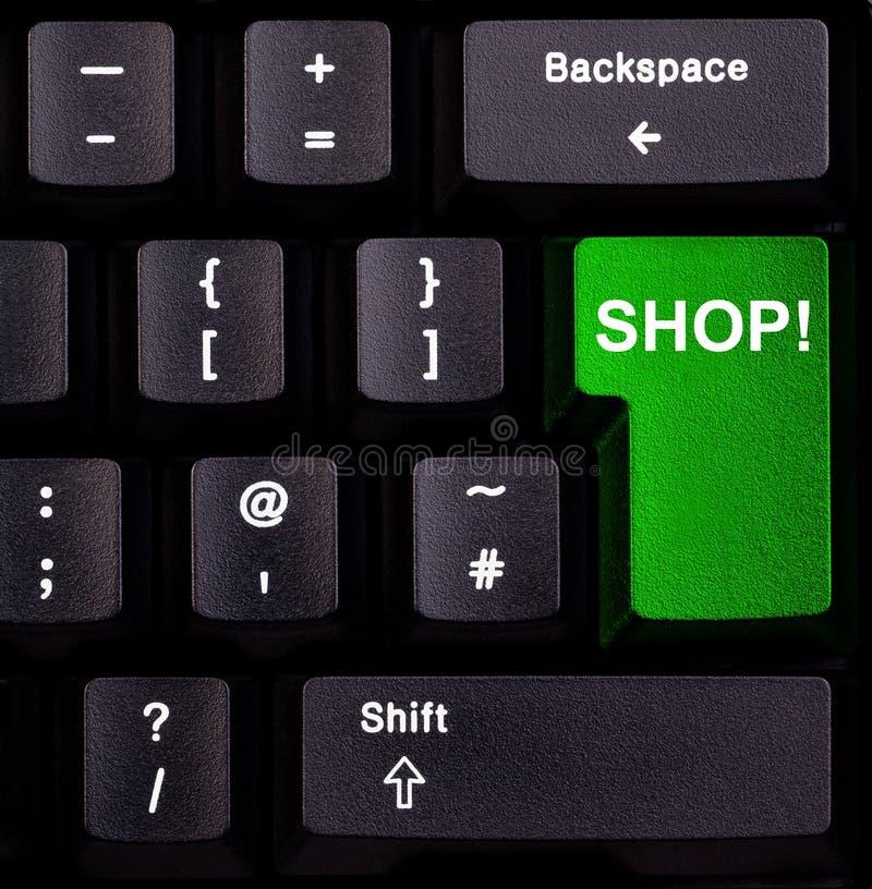 De winkel van het toetsenbord stock afbeelding