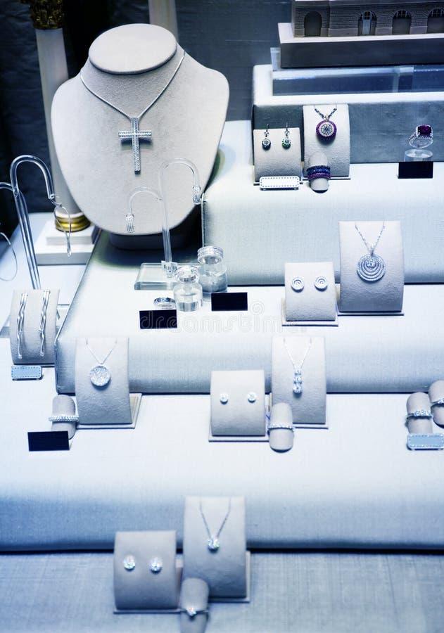 De winkel van juwelen stock afbeelding