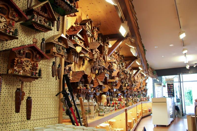 De Winkel van de koekoeksklok in Vaduz, Liechtenstein royalty-vrije stock foto's