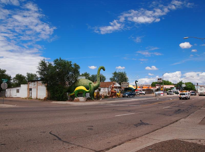 De Winkel van de regenboogrots in Holbrook Arizona royalty-vrije stock afbeelding
