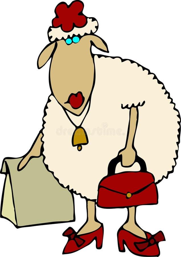 De winkel van schapen royalty-vrije illustratie