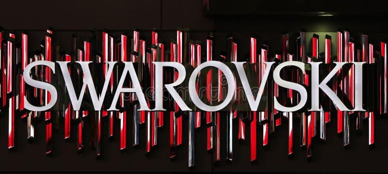De winkelembleem van Swarovski stock illustratie