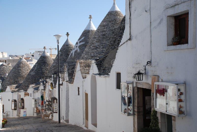 De Winkels van de herinnering in Alberobello stock fotografie