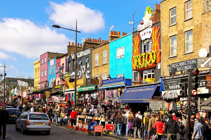 De winkels van de Stad van Camden