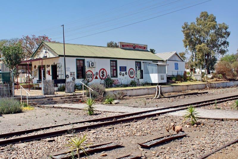 De winkels van de stationgift in Cullinan, Zuid-Afrika stock afbeeldingen