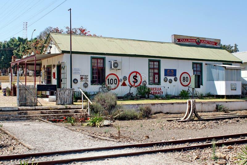De winkels van de stationgift in Cullinan, Zuid-Afrika royalty-vrije stock fotografie