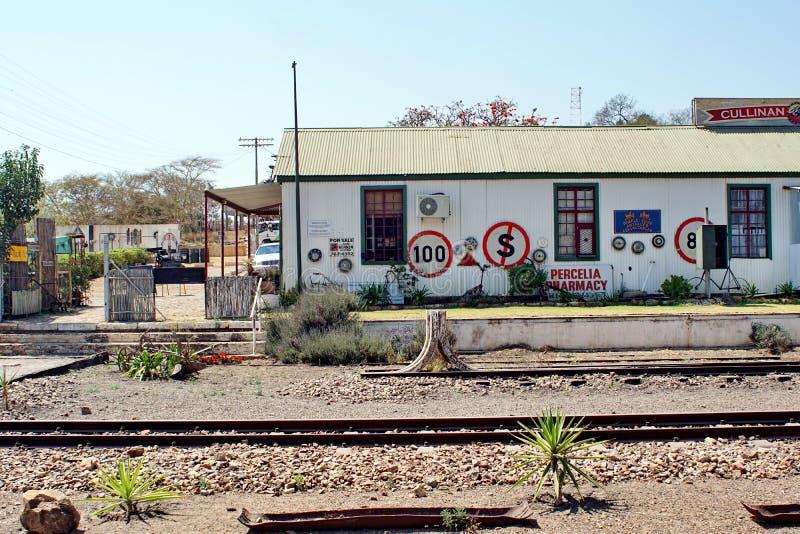 De winkels van de stationgift in Cullinan, Zuid-Afrika stock foto's