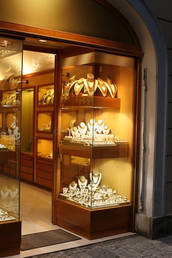 De winkelvenster van juwelen royalty-vrije stock foto's