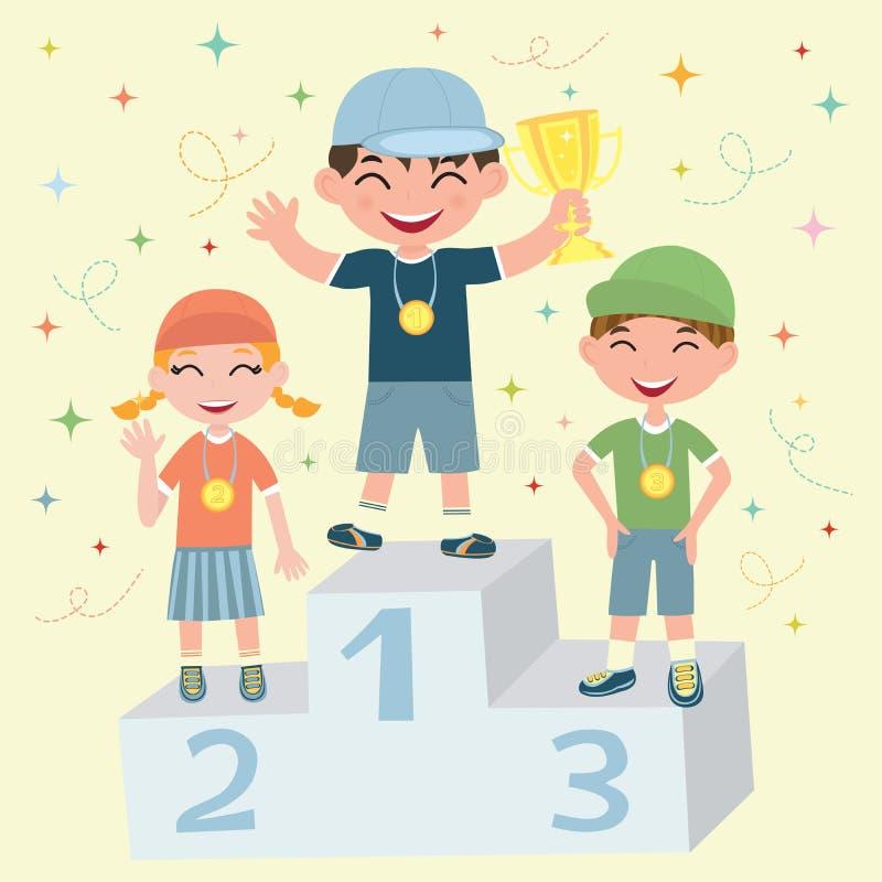 De winnaar vector illustratie