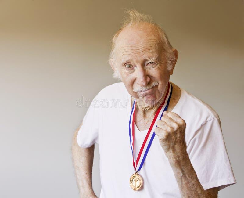 De Winnaar van de Medaille van de bejaarde royalty-vrije stock foto's