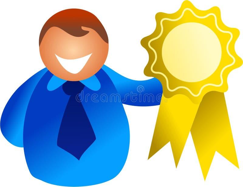 De winnaar van de rozet royalty-vrije illustratie