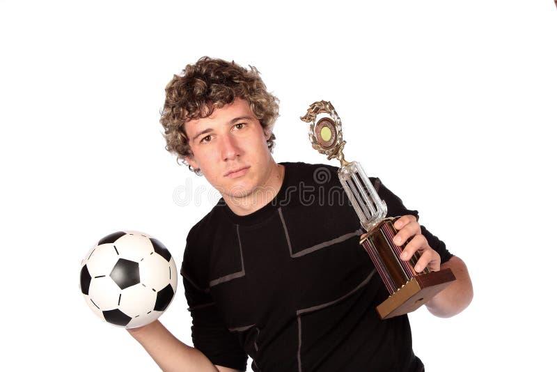 De winnaar van het voetbal royalty-vrije stock afbeeldingen