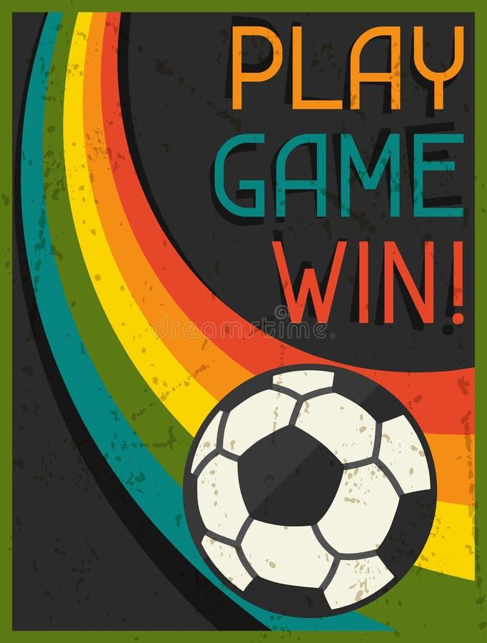 De Winst van het spelspel! Retro affiche in vlakke ontwerpstijl royalty-vrije illustratie