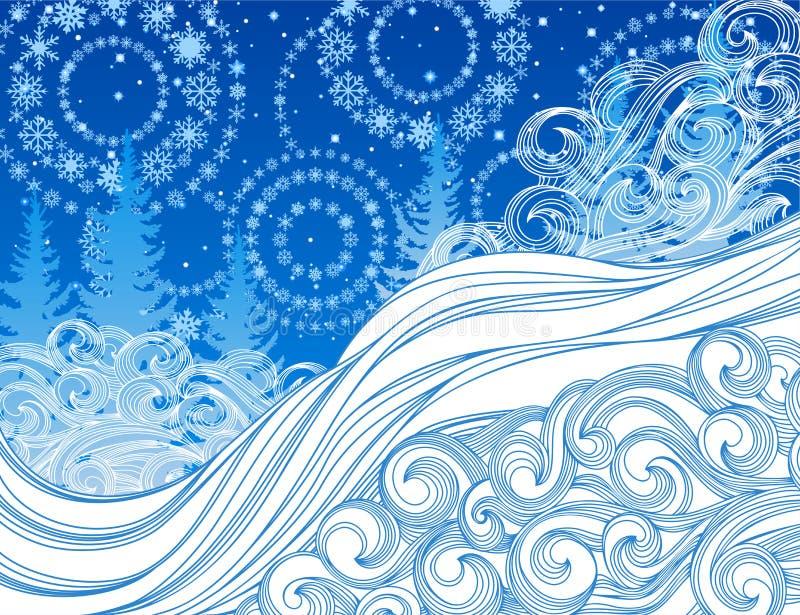 De winter stock illustratie
