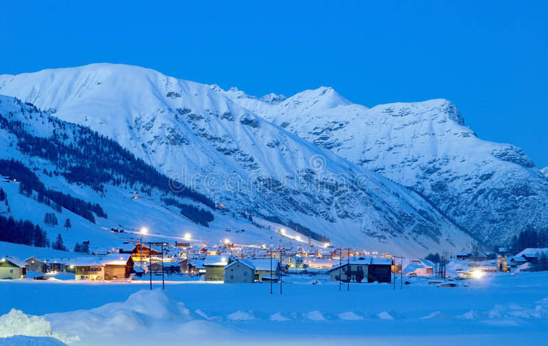 De winter in Apls royalty-vrije stock afbeelding